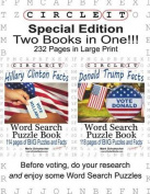 Special Edition, Two Books in One!!! Circle It, Hillary Clinton Facts and Donald Trump Facts, Word Search, Puzzle Book