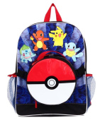 Pokemon Large Backpack and Pokeball Insulated Lunchbox Lunch Bag - Blue