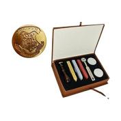 New Vintage Harry Potter Hogwarts School Badge Wax Seal Stamp Sticks Melting Spoons Candles Set