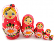 Lady Bug Russian 5 Piece Matryoshka Doll 10cm