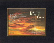 The old rugged Cross . . . 28cm x 36cm Biblical/Religious Verses set in Double Bevelled Matting(Black on Gold) - A Timeless and Priceless Poetry Keepsake Collection