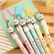 BuW Japanese Doll Ornament Black Ink Gel Pen(1 PCS Random Colour) , cute creative Stationery and office supplies