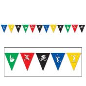 Beistle Festive Summer Sports Olympics Multicoloured 3.7m Pennant Banner