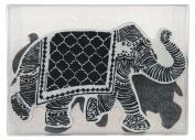 Stampendous NKCFS01 Elephant Nstudio Stamp & Stencil Set, Grey