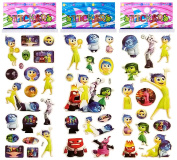 3 Sheets Puffy Dimensional Scrapbooking Party Stickers-FREE USA SHIPPING - INSIDE OUT
