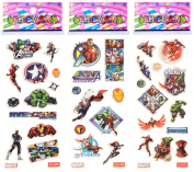 3 Sheets Puffy Dimensional Scrapbooking Party Stickers-FREE USA SHIPPING - AVENGERS
