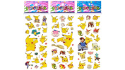 3 Sheets Puffy Dimensional Scrapbooking Party Stickers-FREE USA SHIPPING - PIKACHU