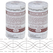 Bundle of 2 Packages of Borders Made Easy Adhesive Backed Patterns for Continuous Machine Quilting, includes Corners, 7.9m by 5.7cm , Pattern No. 115