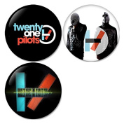 Twenty One Pilots #1 Pinback Buttons Badges/Pin 1.25 Inch (32mm) Set of 3 New