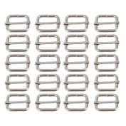 LEORX Metal Sliding Bar Tri-glides Wire-formed Roller Pin Buckles Slider Strap Adjuster 25mm Pack of 20