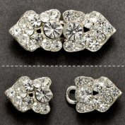 Crystal Rhinestone Hook & Eye Closure by 2 Sets, SP-2096