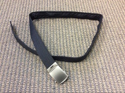 110CM Black Money Zippers Belt 08332B