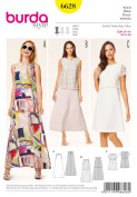 Burda Misses' Dress Sewing Pattern 6628