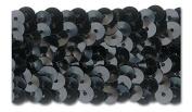 BLACK 3.2cm STRETCH SEQUIN-NEW!!!! LOW PRICE 10 Yards