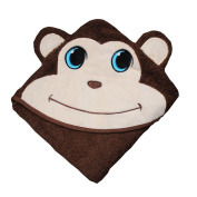 Plovf Hooded Baby Towel - 100% Cotton Baby Bath Towel - Monkey