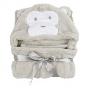 MaxMia Baby Hooded Towel - Grey Monkey