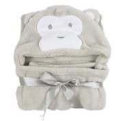 MaxMia Baby Hooded Towel - Grey Monkey