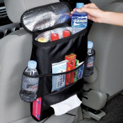 Bestdeal® Car Seat Organiser with Cool Insulated Cooler Bag, Map, Tissue, Drinks Holder - Keep Warm or Cold