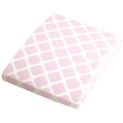 Kushies Baby Fitted Change Pad Sheet, Pink Lattice
