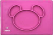 LiveEco Silicone Placemat and Tray for Babies, Infants, Toddlers and Kids | Suctions To Table | Safe Non-toxic FDA Approved Food Grade Silicone - BPA, PVC, Lead and Phthalate Free