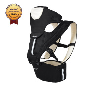 MarSue 100% Organic Cotton Ergonomic Baby Carrier Sling with Hip Seat and Detachable Headrest