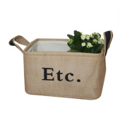 Vintage Eco-friendly Jute Linen Square Storage Bin for Organising Toys Clothing Books Gift Baskets