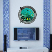 Hatop Submarine Portholes Wall Sticker Kids Coral Fish Boat Scuttles Decals Mural Art Nursery Home Decor