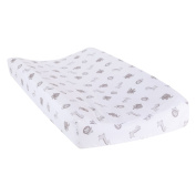 Trend Lab Safari Chevron Animals Changing Pad Cover, Black/White