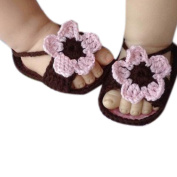 Fullkang Newborn Baby Lovely Knitting Lace Crochet Buckle Sandal Shoes