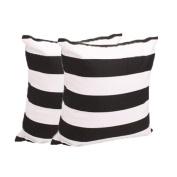 Hatop 2PC Two-sided Stripe Pillow Case Sofa Waist Throw Cushion Cover Home Decor