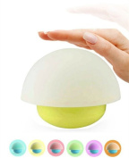 Tumbler Mushroom Design Colourful Night Light Touch Sensor Dimmable LED Nightlights with Softlight,Stronglight and 7 Colourful Light Best Gift for Baby Room Bedroom Living Room Nursery