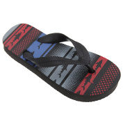FLOSO® Childrens Boys Aztec Patterned Toe Post Flip Flops