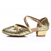 HROYL Girls SA-G08 PU Latin Dance Shoes