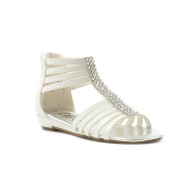 Lilley Girls White Gladiator Sandal with Diamante
