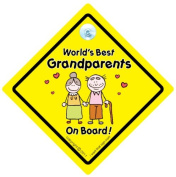 World's best Grandparents on Board Car Sign, Grandparnet car sign, Baby on Board, Baby on Board Sign, Bumper Sticker, Decal, Car Sign, Baby Car Sign