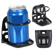 TRIXES Black Foldable Car Vent Cup Holder Cans and Bottles