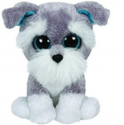Ty Beanies WHISKERS - Grey Schnauzer Dog Small