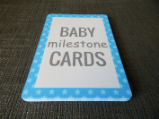 Baby Boy Milestone Cards Gift Set - Blue