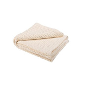 Abeille 100% Cotton Cellular Blanket, Cream