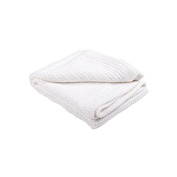 Abeille 100% Cotton Cellular Blanket, White