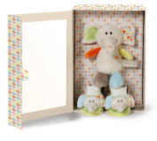 NICI 39720 20 cm Elephant Dundi Plus Baby Shoes Gift Set