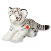 Lying White Tiger Plush Soft Toy by Teddy Hermann.40cm. 90466