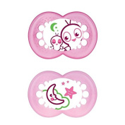 MAM Night Soother 12+ Months, Pink