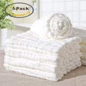 A-forest Soft Cotton Baby Face Towel Baby Washcloths Bath Towels 6 Pack