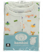 "Bambini Baby Boys' ""Happy Animals"" 2-Pack Gowns - white, 0 - 12 months"
