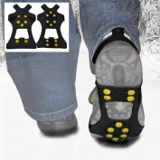 WinterWise® 10-STUD Ice Traction Universal Slip-on Stretch fit Snow & Ice Spikes