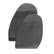 Rubber Half Soles -Rotary- 1 pair for DIY Shoe Repairs of soles - 3.5 mm thickness - medium ribbed design.