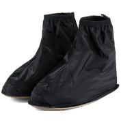 Adults Mens Womens Reusable Waterproof Flat Anti-Slip Rain Shoes Cover Overshoes Rain Boots Galoshes