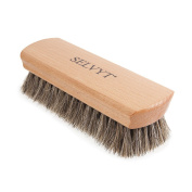 Selvyt Extra Large Beechwood Horse Hair Shoe and Boot Polishing & Buffing Brush