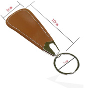 Lifeyz Portable Professional Metal leather Shoe Horn with Keyring